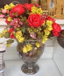arranjo-de-rosas-taça-vidro