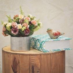 Arranjo de mini Rosas Artificiais - Formosinha Decorações