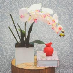 Arranjo de Orquídea Phalaenopsis Artificial - Formosinha Decorações