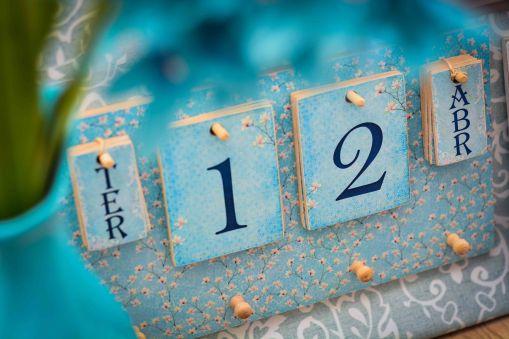 Calendário + Porta chaves nas cores do outono - Formosinha Decorações
