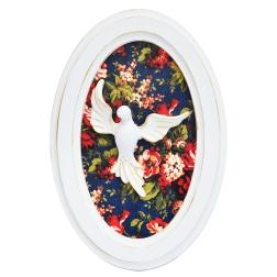 Quadro Divino Espírito Santo Floral - Formosinha Decorações