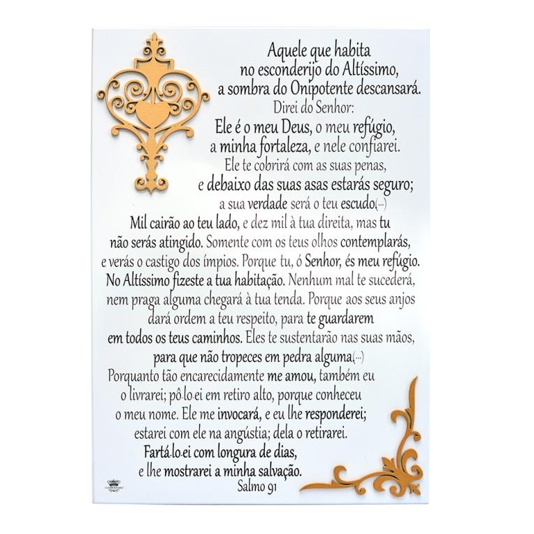 Quadro Provenças Salmo 91 - Formosinha Decorações