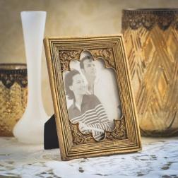 Porta-retrato dourado - Formosinha Decorações