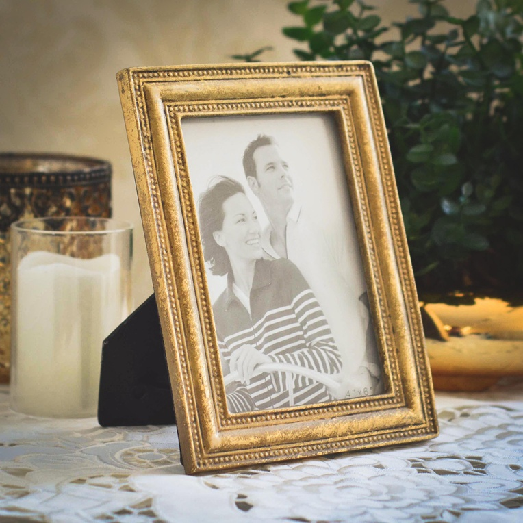 Porta-Retrato-10X15-Vintage- Dourado-Formosinha-Decorações-II
